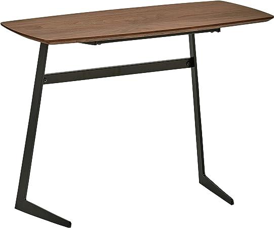 Rivet in legno e metallo tavolo da caff/è in stile industriale larghezza 80 cm; colore noce