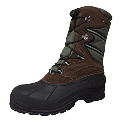 YSC9 Climate X Mens Winter Boots (12 D(M) US, Brown/Olive-1) | Snow Boots