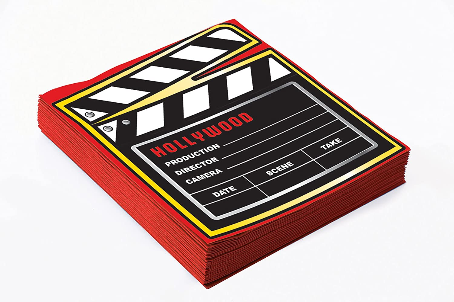 At the Movies- Décor Napkin 13'' (16pcs) Partyware for Film & TV Hollywood Party Bristol Novelties