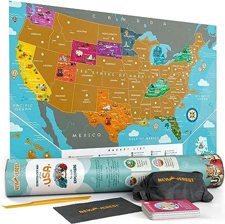 Mapa de los Estados Unidos para raspar – para niños y adultos ...