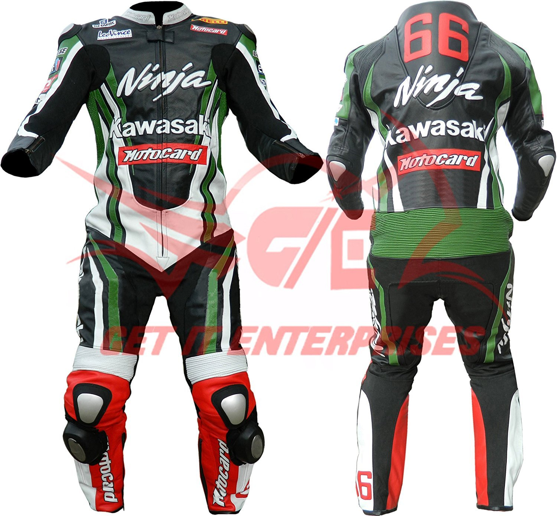 Amazon.es: Kawasaki Ninja moto piel traje moto Dainese ...