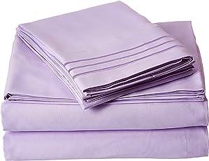 Elegante Confort 1500egipcio de 300hilos calidad super suave Wrinkle Free Hoja (4piezas)