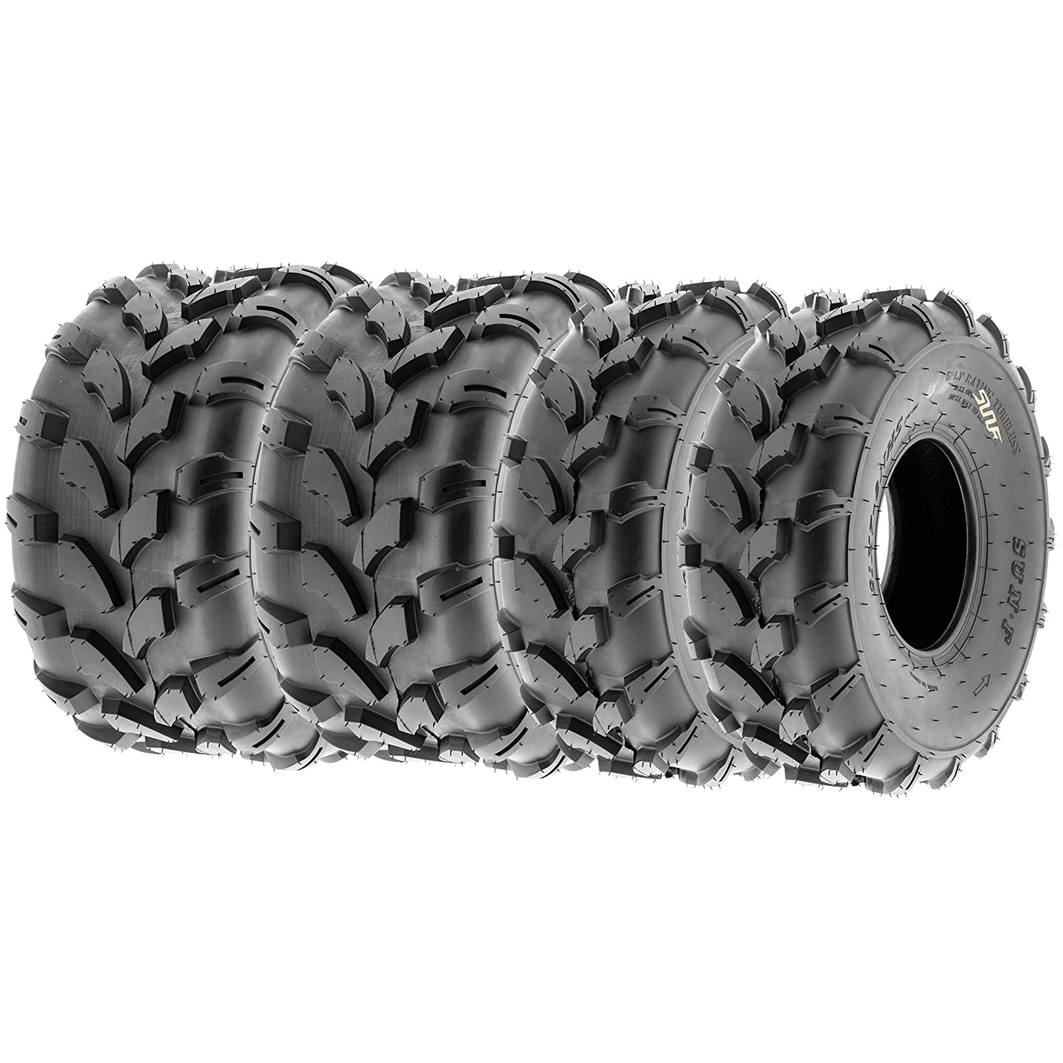 4 Set of 23x7-10 /& 23x10-10 ATV Mud /& Trail AT 6 Ply Tires A028 by SunF