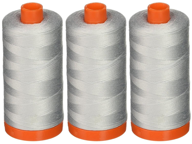 3-PACK - Aurifil A1050-2600 Mako Cotton Thread Solid 50WT 1422Yds Dove 4337017339