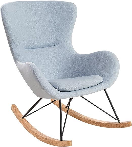 Invicta Interior Design Schaukelstuhl Scandinavia Swing Stoff