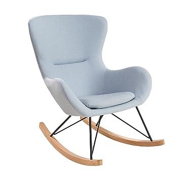 Sessel Hellblau design schaukelstuhl scandinavia swing stoff hellblau schaukelsessel