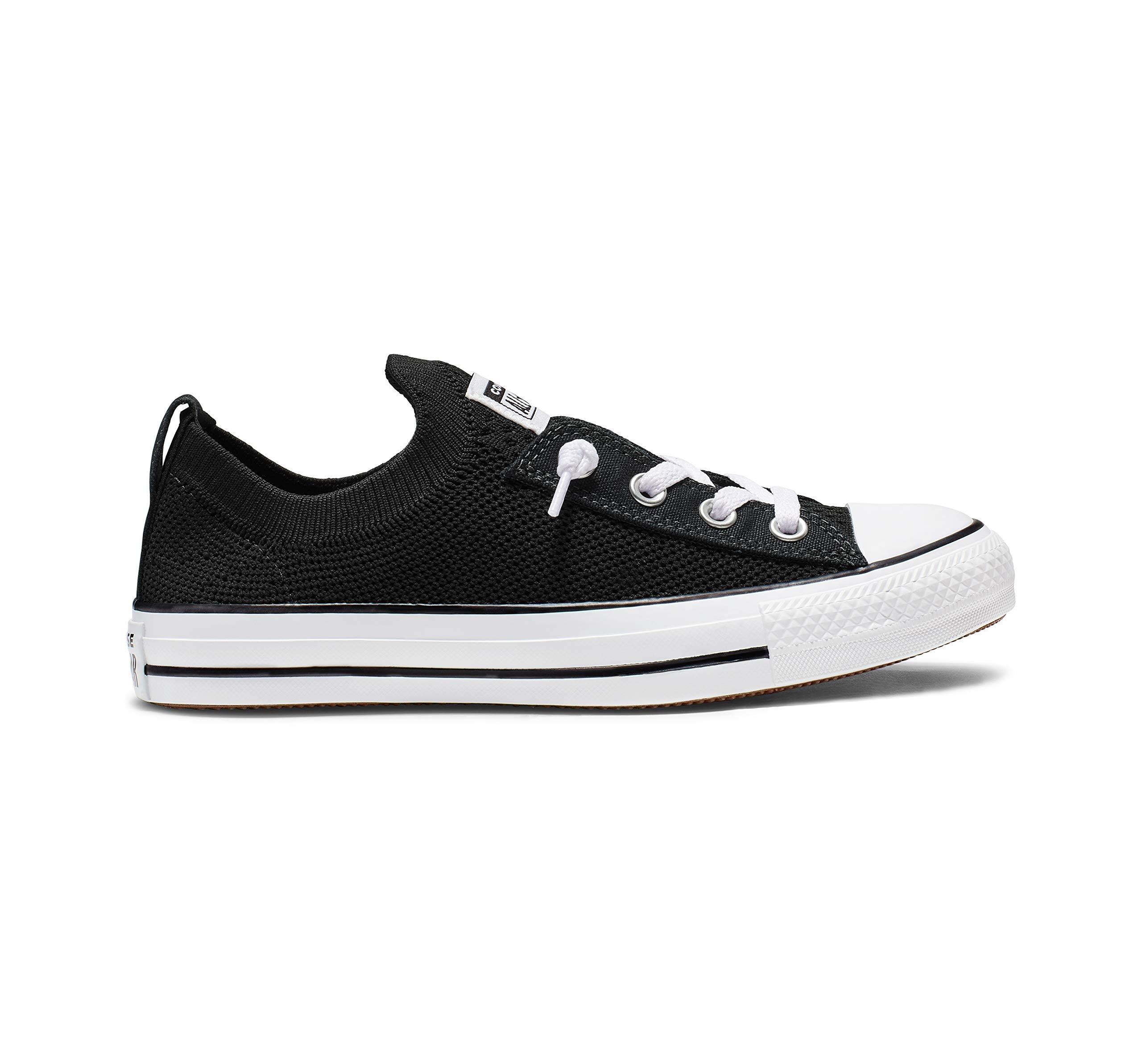 Converse Women's Chuck Taylor All Star Shoreline Knit Slip On Sneaker White/Black, 8.5 M US by Converse