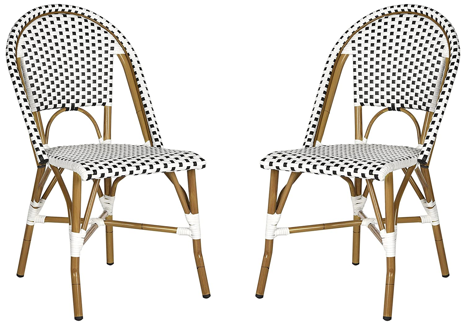 Black and white Hooper bistro chairs
