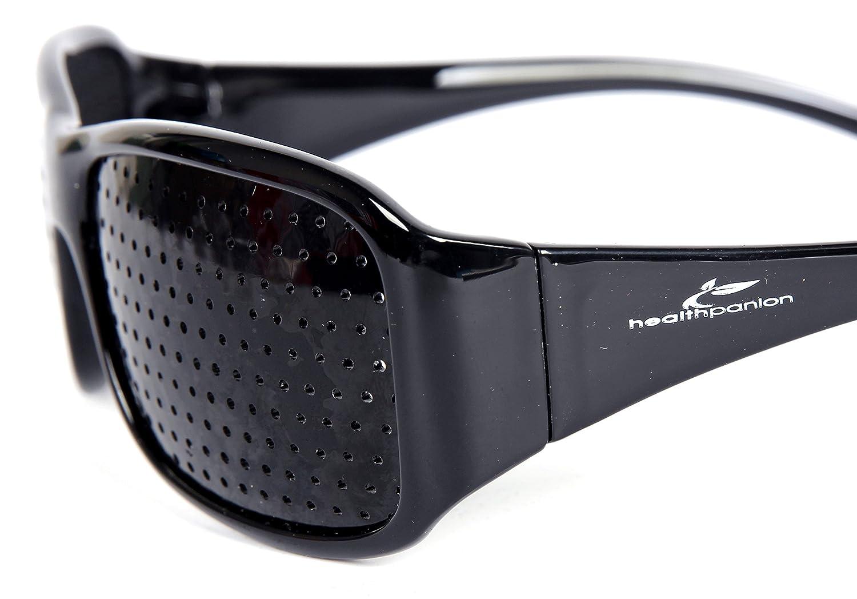 HealthPanion 1 Ensemble de Lunettes de Repos à Sténopé - (Noir)(AH Black  Pinhole Glass) - Lunettes à Grille - Lunettes à Grilles - Lunettes à Grille  Optique ... ad7684124485