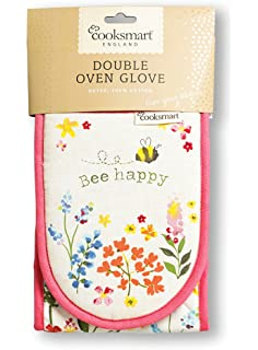 Cooksmart Bee Happy Double Oven Gloves