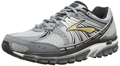 Men's Brooks Beast 12 Running Shoes Gold/Pavement/Black/Silver/White 110122