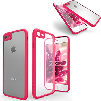 Urcover Funda iPhone 7 Simply Back-Case Transparente con Marco en ...