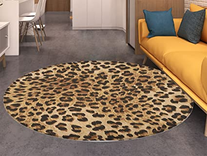 IG Rug round Mat Animal Cartoon Carpet LEDs ChildrenS Bedroom Room round Rugs Home Computer Chairs Floor Mat
