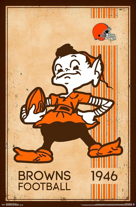 Amazon.com: Trends International Cleveland Browns Retro Logo Wall ...