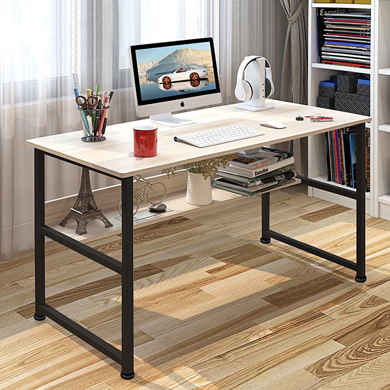 - Jerry & Maggie - Wood & Steel Table Simple Plain Lap Desk Computer