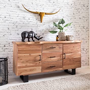 Finebuy Massives Sideboard Tree 160 X 84 X 46 Cm Massiv Holz Akazie