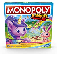 Monopoly Junior: Unicorn Edition Board Game for 2-4 Players, Magical-Themed Indoor Game For Kids Ages 5 and Up (Amazon…