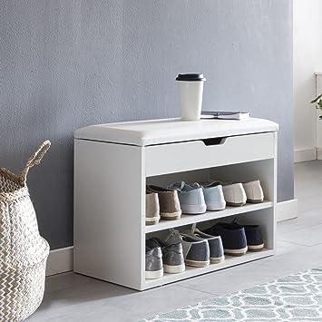 Garderoben Sitzbank finebuy schuhbank sofie mit sitzfläche weiß garderoben bank holz 60