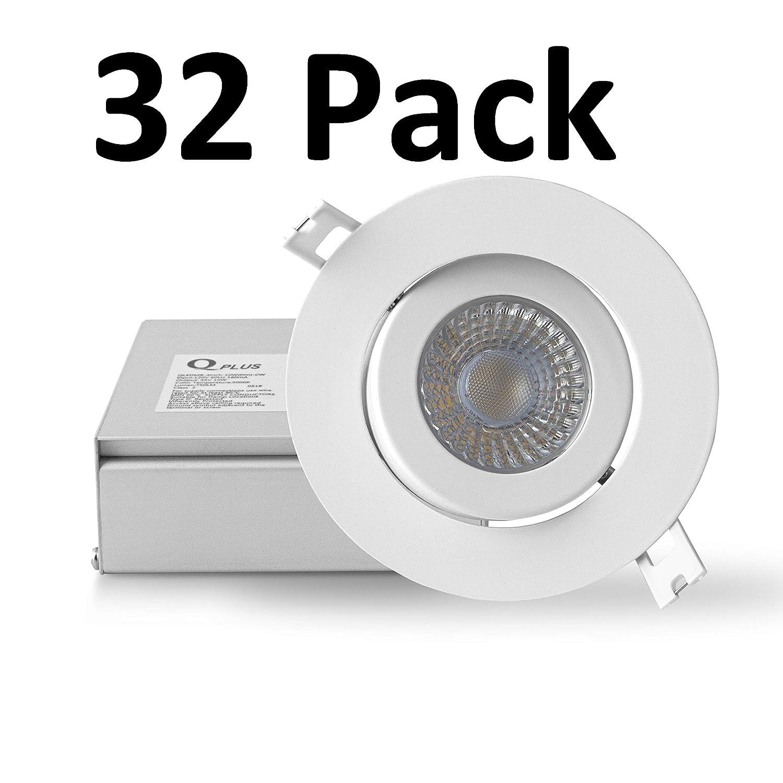 4 750 Lumens Daylight Dimmable cETLus /& Energy Star Rated 4 Inch 5000K QPLUS LED Gimbal Adjustable//Rotatable Eyeball Slim Panel Recessed Downlight//Potlight 10 Watts 50,000 Hours
