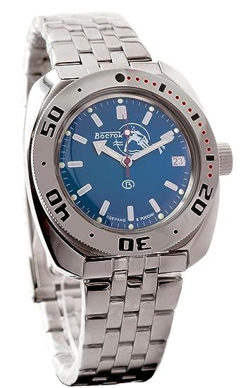 Reloj Amphibian, de la marca Vostok, modelo 2416 710059: Amazon.es: Relojes