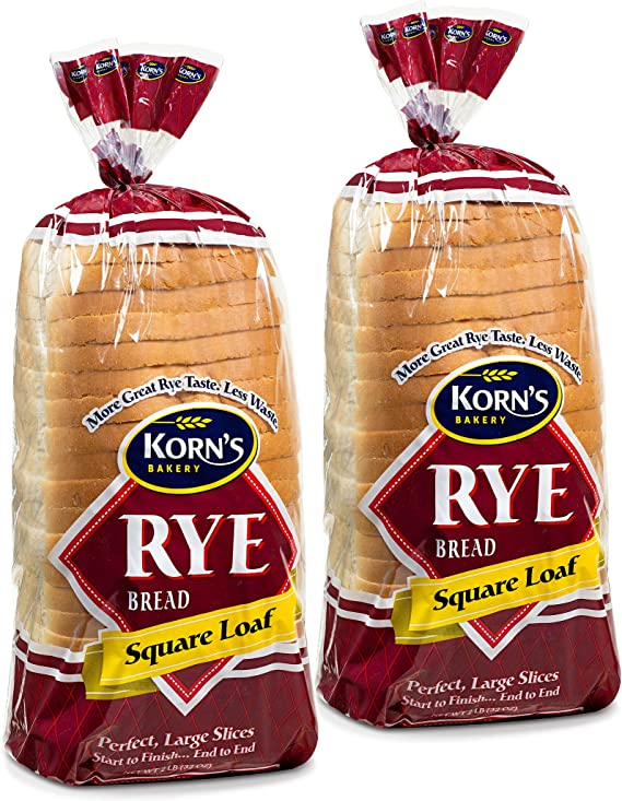 Rye Bread Loaf - 2 Pack - 32 oz per Loaf | Delicious Sandwich Bread | Fresh Bread | Jewish Rye Kosher Bread | Dairy