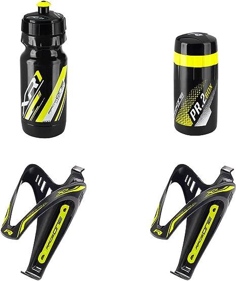 kit borraccia xr1 con portaborraccia x3 nero giallo RACEONE bici