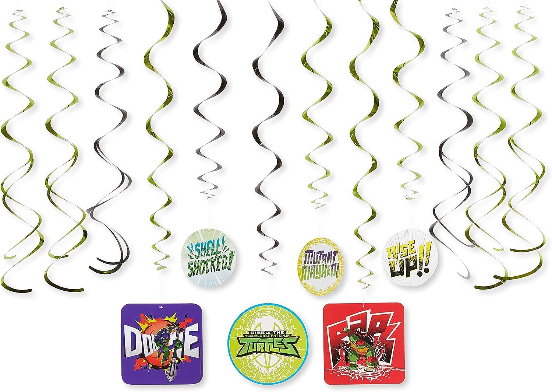 American Greetings Teenage Mutant Ninja Turtles (TMNT) Party Supplies, Hanging Swirl Decorations (12-Count)