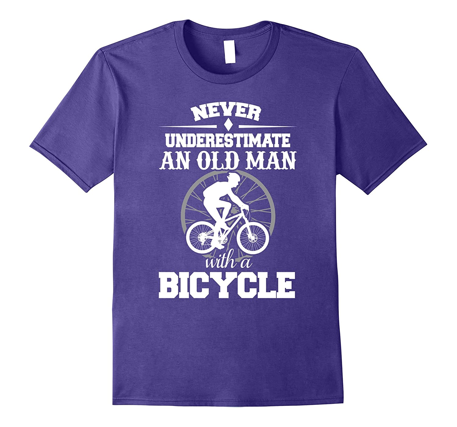 Funny Never Underestimate An Old Man With A Bicycle T-shirts
