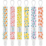 Babygoal Pacifier Clips, 6 Pack Pacifier Holder for Boys and Girls Fits Most Pacifier Styles & Baby Teething Toys and Baby Shower Gift 6PS14-J