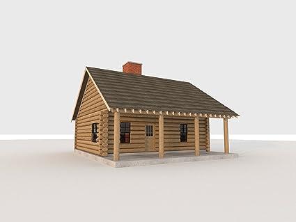Build your own 840 sqft 2 bedroom log cabin diy plans fun to build