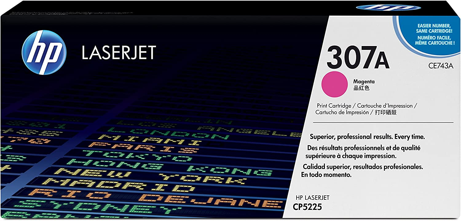 HP 307A | CE743A | Toner Cartridge | Magenta, One Size