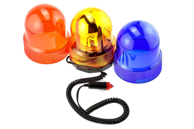 SE FL-13RWL Revolving Warning Automotive Light 3Pc Set (3 Colors :Amber, Red and Blue), Dc12V, Super Strong Magnet