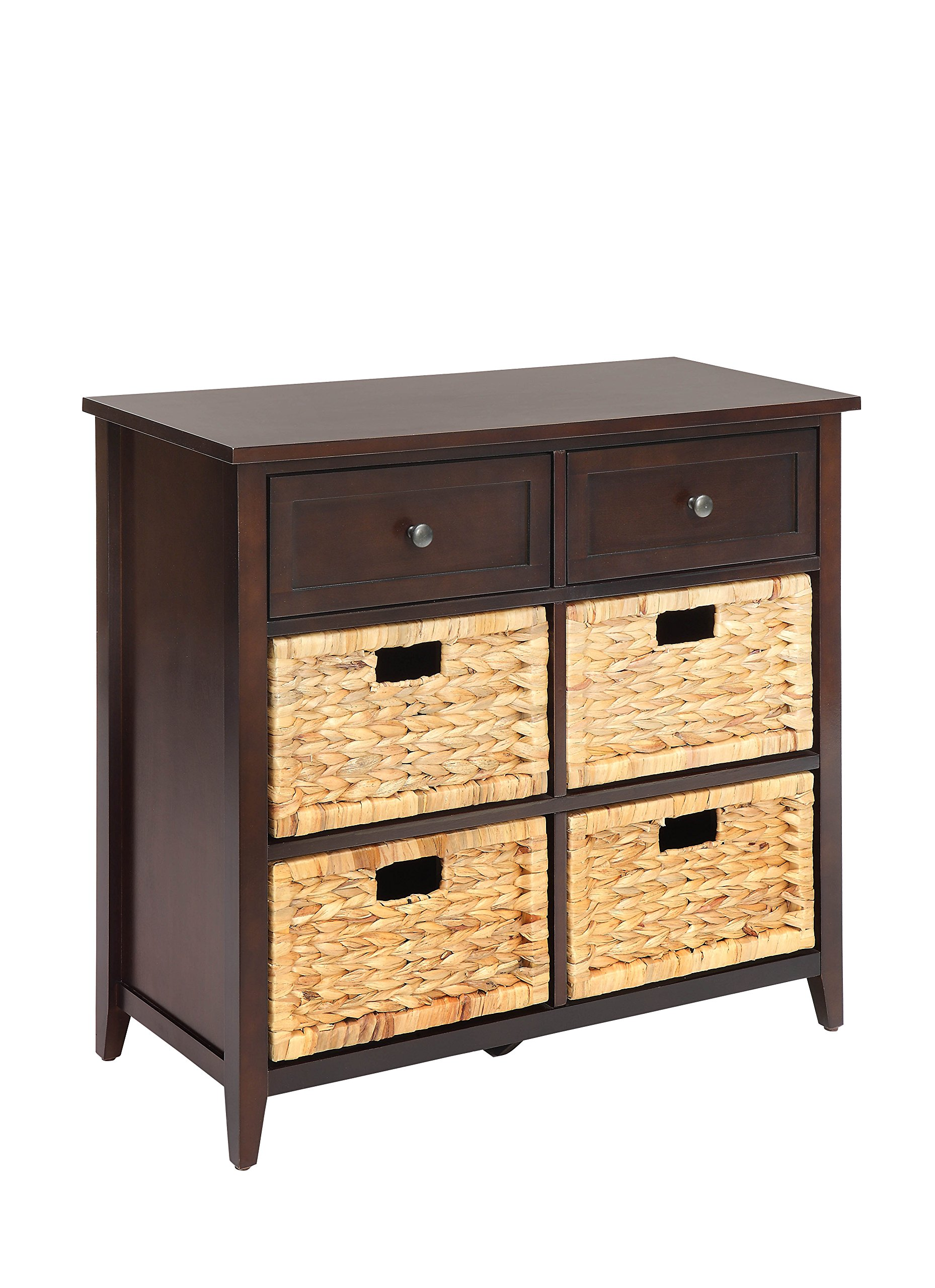 ACME Flavius Espresso Accent Chest - Rectangular Chest The product contains 6 drawers Wooden frame - dressers-bedroom-furniture, bedroom-furniture, bedroom - 81T%2BF78H6qL -