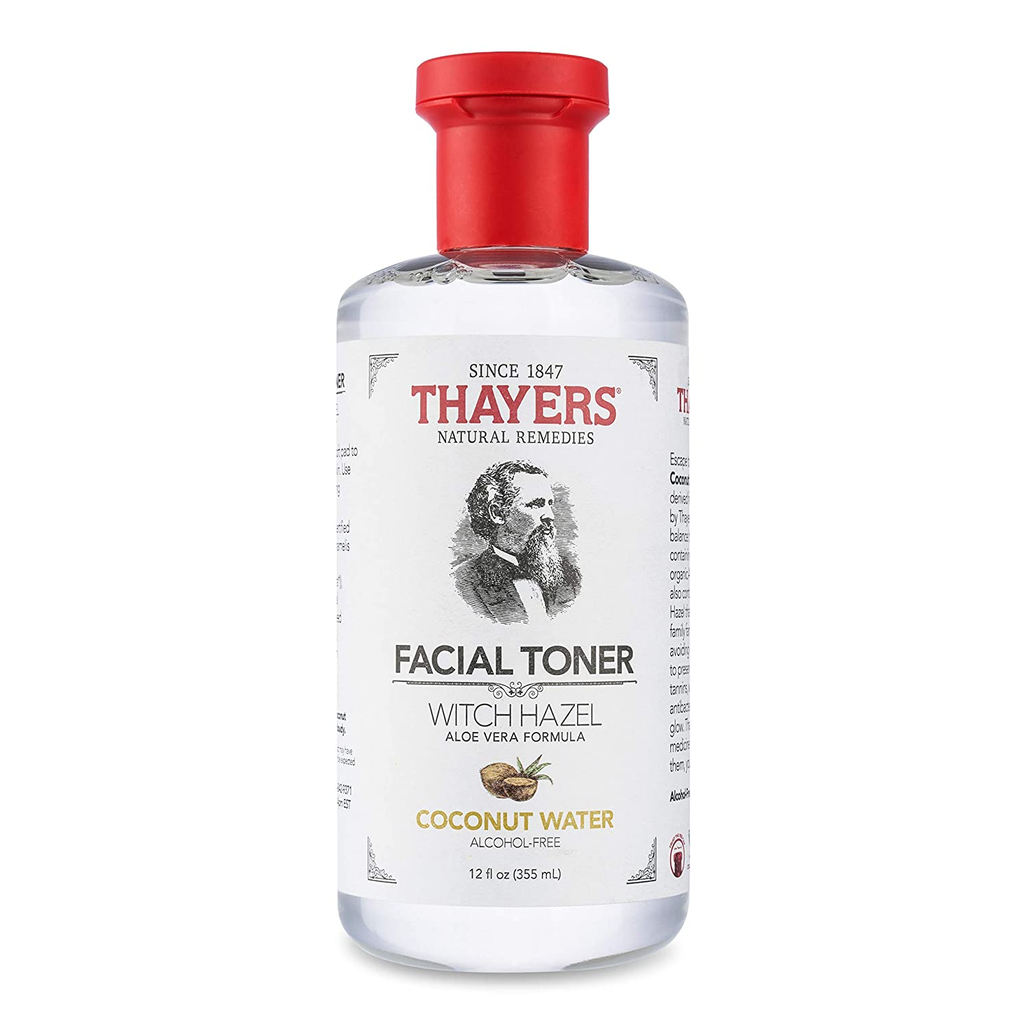 Thayers Alcohol-Free Coconut Water Witch Hazel Facial Toner with Aloe Vera Formula - 12 oz