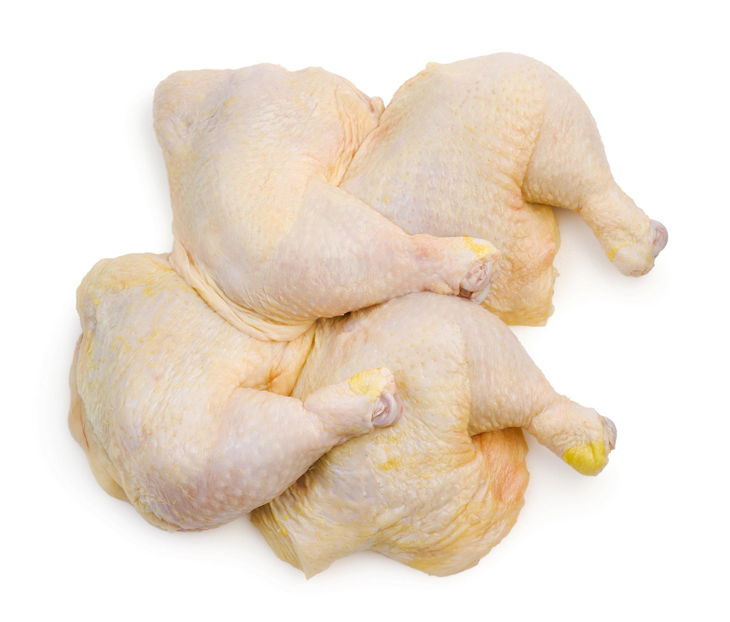 Double Certified Organic Whole Chicken Leg Quarters (9.25-9.75 Lbs) - Glatt Kosher