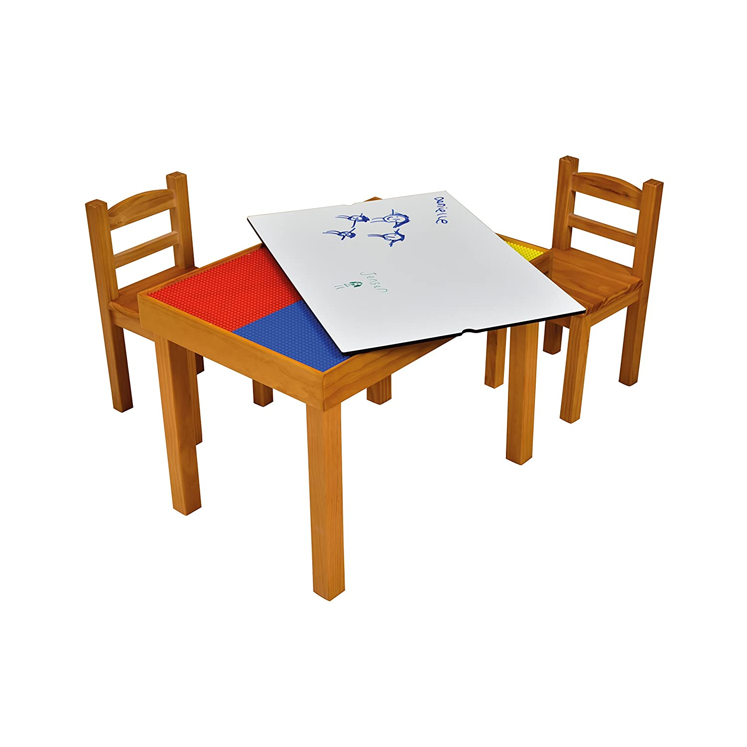 Liberty House Toys Multi purpose Wooden Table and Chairs Set