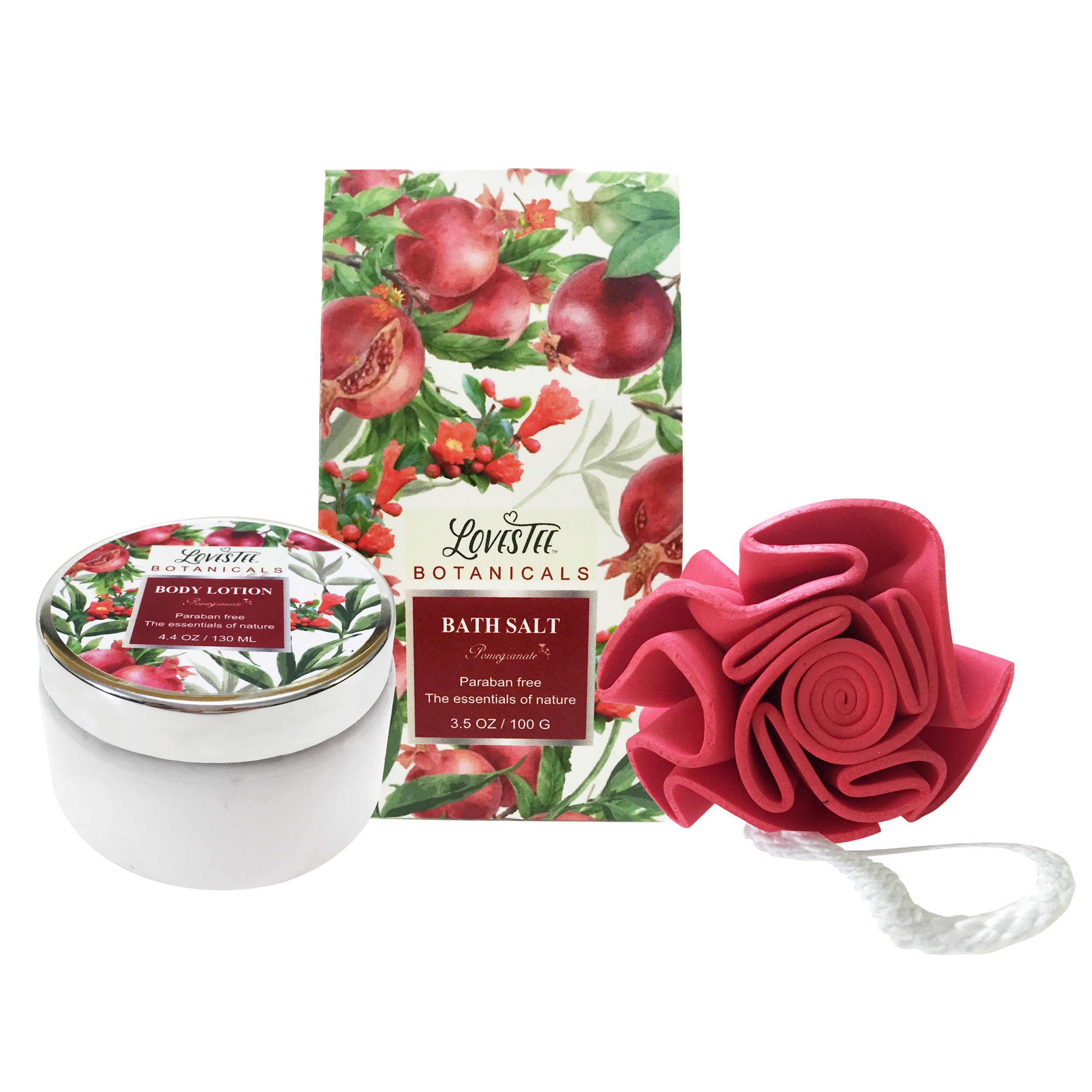 Women valentine gift red pomegrante love bath body spa relax basket the perfect holiday gift for your beloved ones who wouldnt benefit from a visit at the spa but how often do you really get to take the time to rejuvenate solutioingenieria Images
