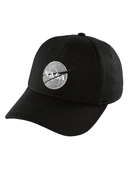 d09be28c878 Alpha Industries Men Caps Snapback Cap NASA Black Adjustable  Amazon ...
