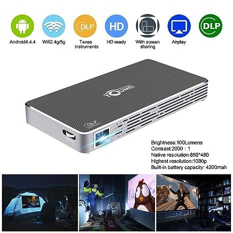 Amazon.com: Mini proyector proyector de cine en casa HD DLP ...