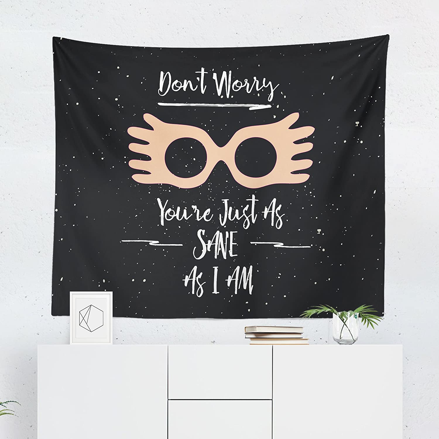 Harry Potter Quote Tapestry - Luna Lovegood Hogwarts Wall Tapestries Hanging Décor Bedroom Dorm College Living Room Home Art Print Decoration Decorative - Printed in the USA - Small Medium Large Sizes