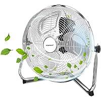 """Aigostar Eddie - Ventilador industrial, 60 W, 3 Velocidades, Ajustable 135º, 3 aspas metálicas, 14"""" (35cm aprox). Motor…"""