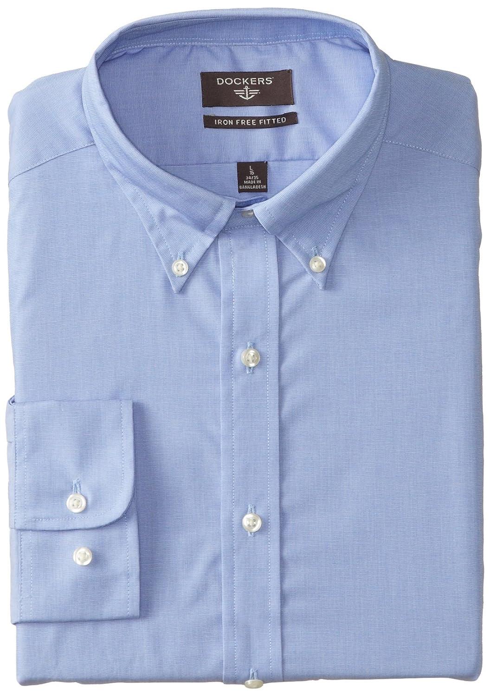 Dockers Mens Button Front Non Iron Dress Shirt At Amazon Mens