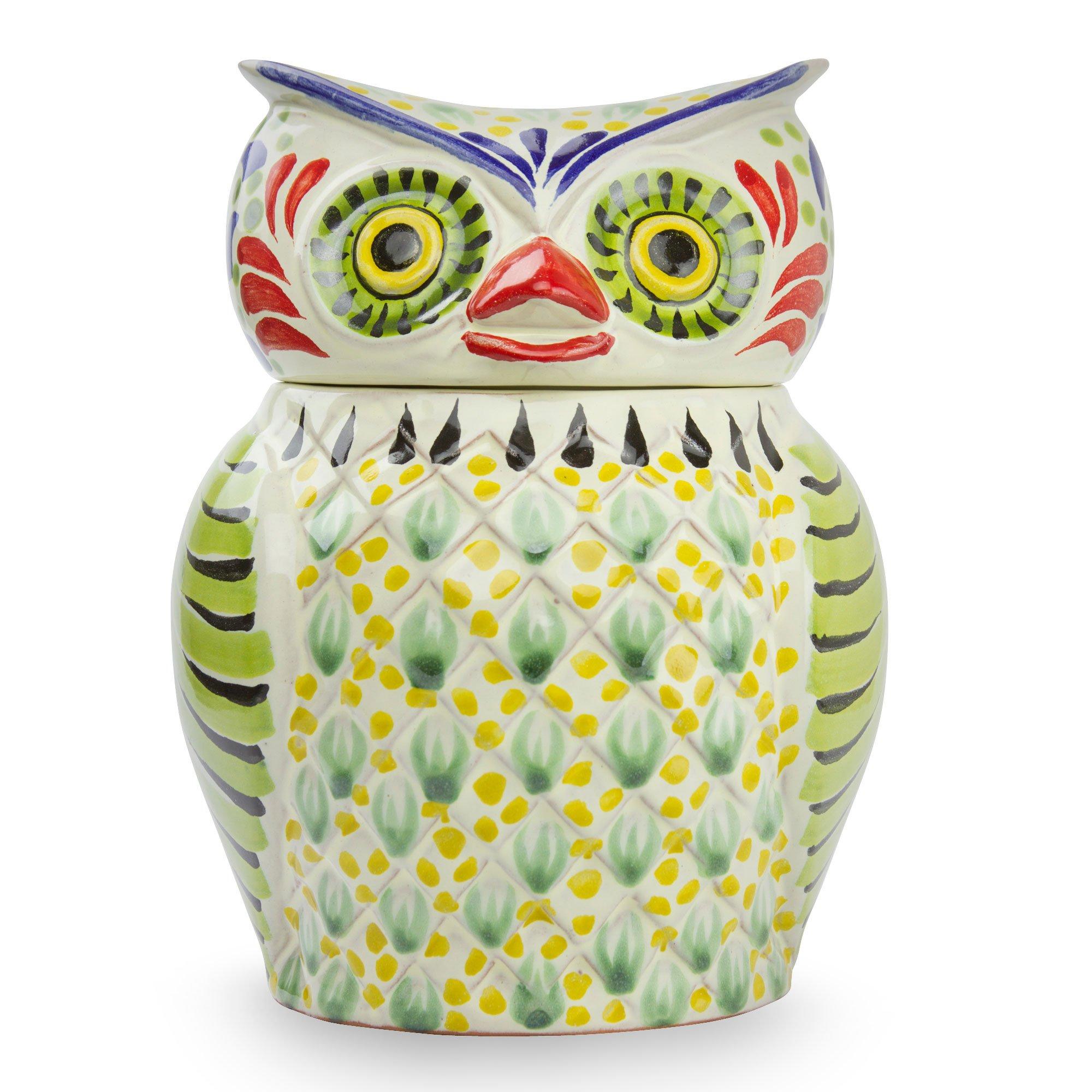 NOVICA Multicolor Ceramic Animal Themed Cookie Jar 'Owl Treats' by NOVICA