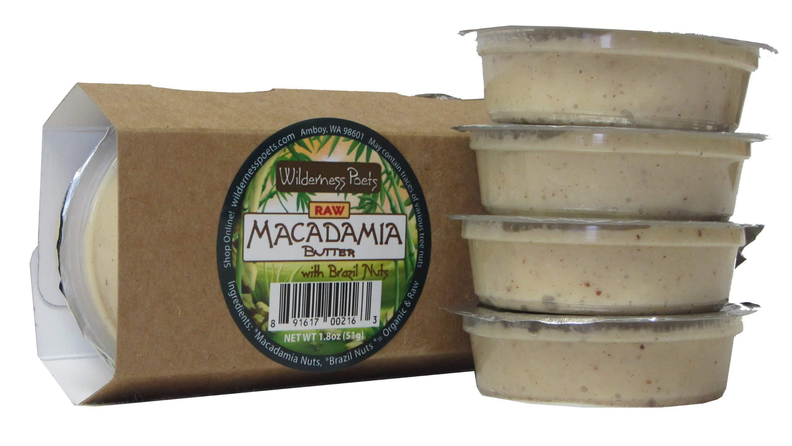 Wilderness Poets Raw – Macadamia Butter Snackers 4 X 1.8 Oz Cups