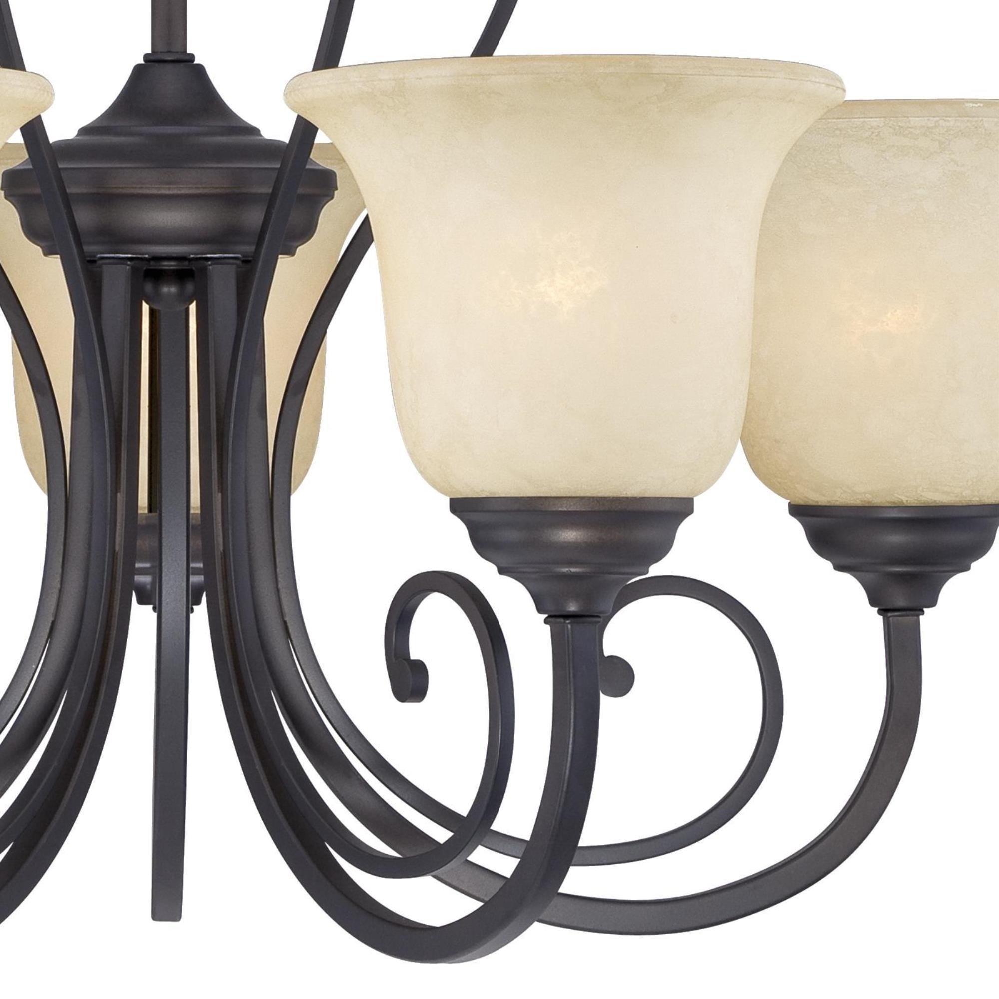 Westinghouse 6340700 Callan Five-Light Indoor Chandelier, Oil Rubbed Bronze Finish with Caramel Scavo Glass by Westinghouse (Image #4)