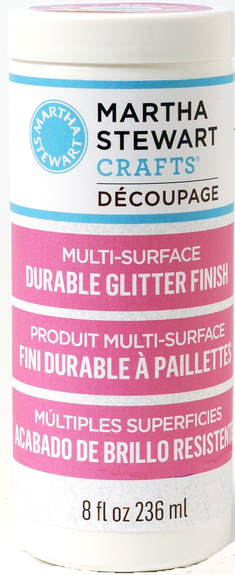 Martha Stewart Crafts Decoupage Formula (8-Ounce), 33288 Glitter Finish