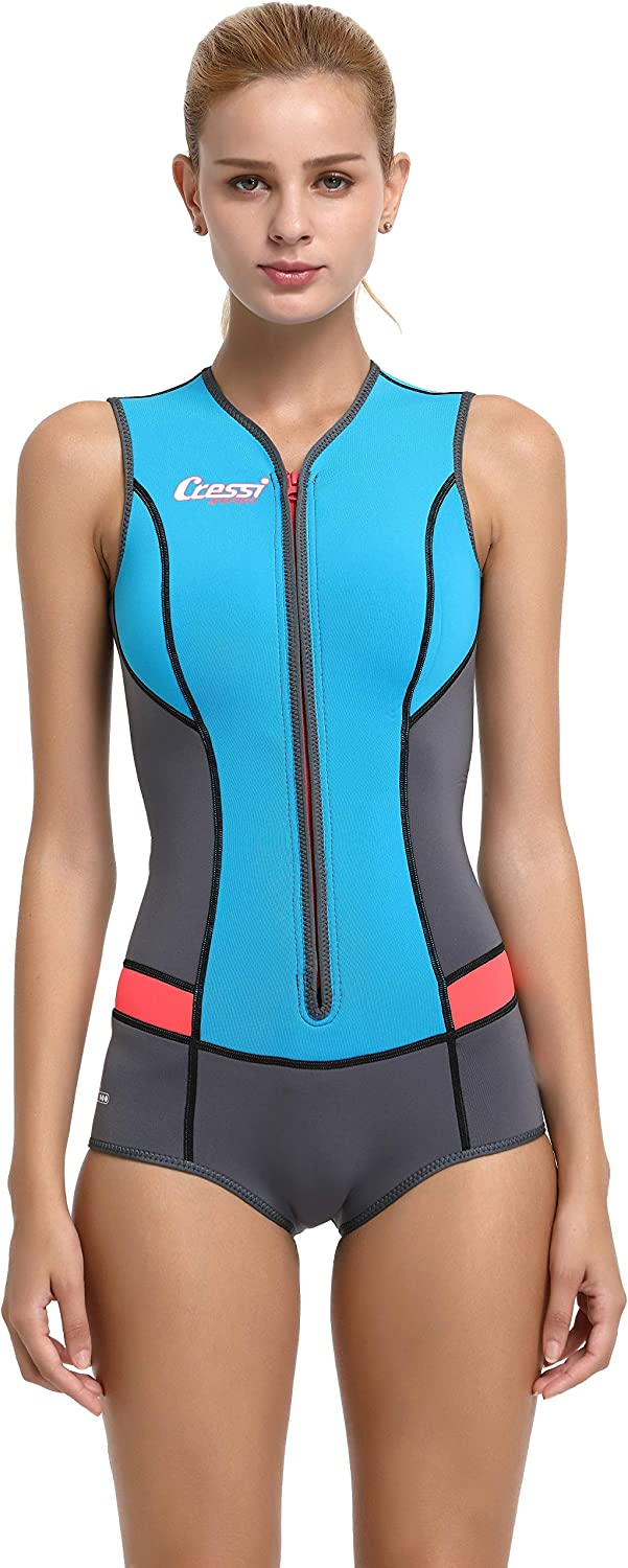 Cressi Neoprene Wetsuit 2mm Designed for Womens for Snorkeling, Swimming, Windsurfing, Water Ski, Water Yoga | Designed in Italy