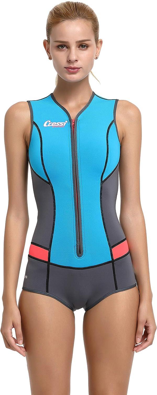 Cressi Idra Swimsuit Traje de baño de Neopreno 2 mm para Mujer ...