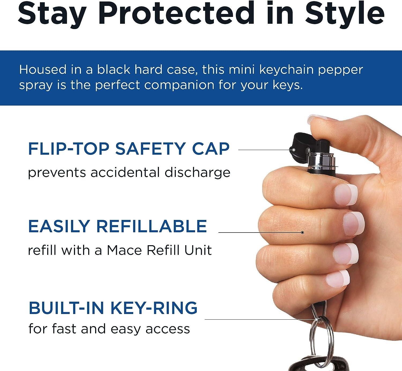 Mace Brand Pepper Spray Key Guard Key Chain Black
