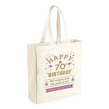 70th Birthday Keepsake Funny Gift For Women Ladies Novelty Female Shopping Bag Present Tote Idea Amazoncouk Kitchen Home